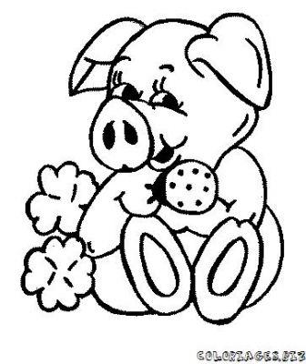 Coloriage dessiner cochon d 39 inde imprimer - Photo de cochon a imprimer ...