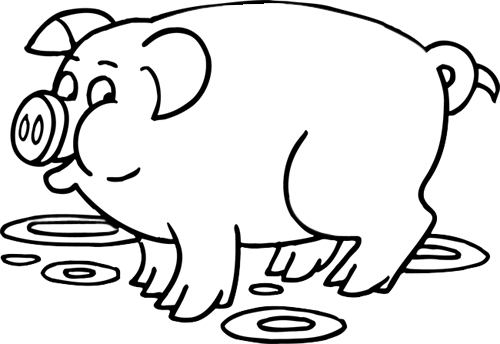 coloriage à dessiner a imprimer petit cochon