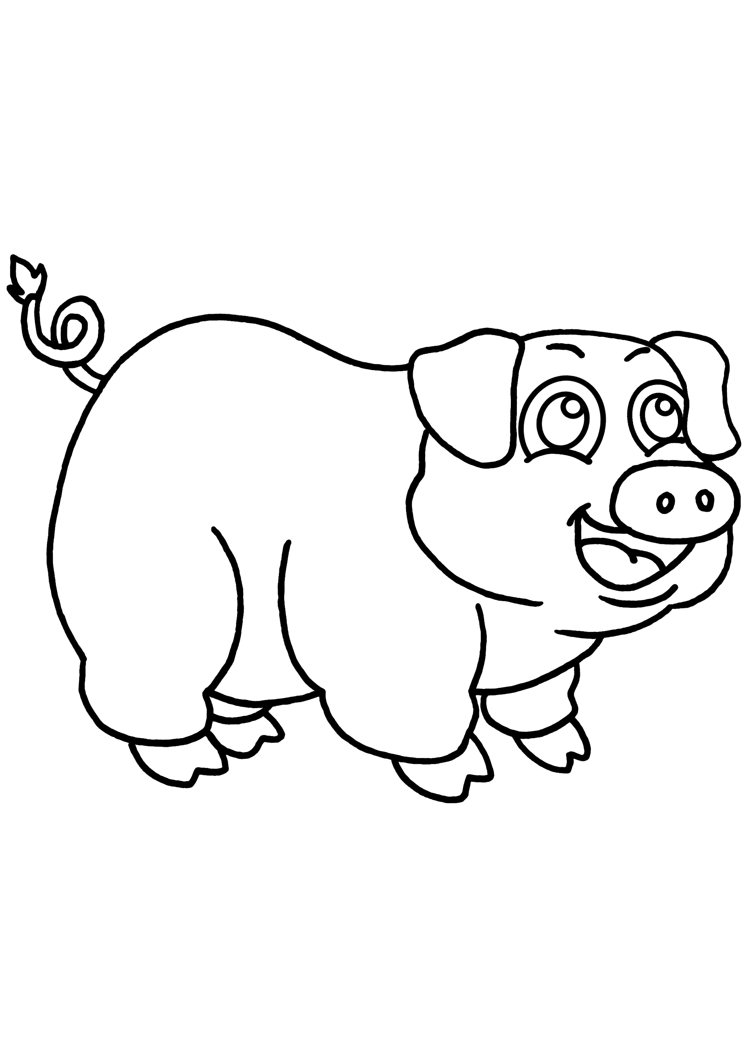 Coloriage dessiner cochon d 39 inde imprimer - Dessin d un cochon ...