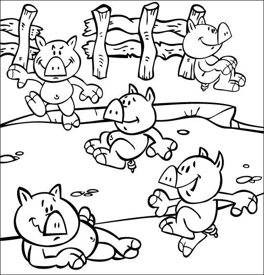 coloriage cochon d'inde gratuit
