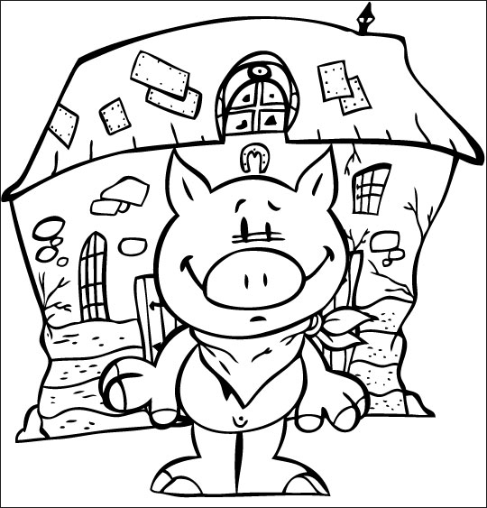 Coloriage bebe cochon - Dessin des 3 petit cochon ...