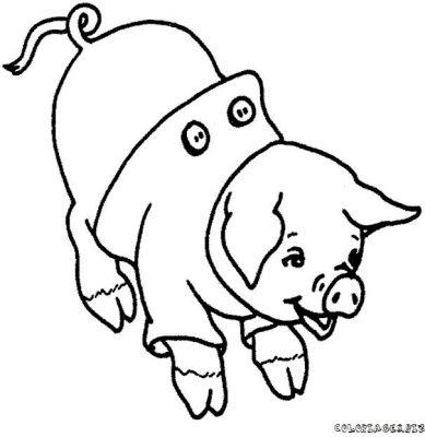 Coloriage dessiner cochon d 39 inde imprimer - Dessiner une oie ...