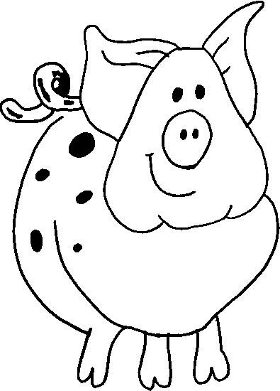 dessin en ligne cochon d'inde