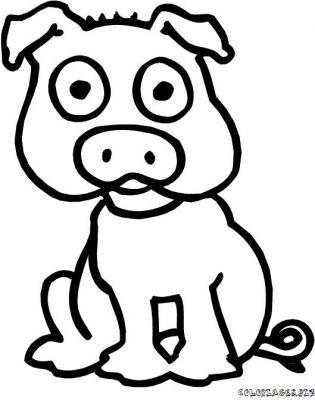 Dessin colorier trois petit cochon loup - Cochon pokemon ...