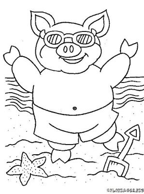 Coloriage le cochon - Cochon a dessiner ...