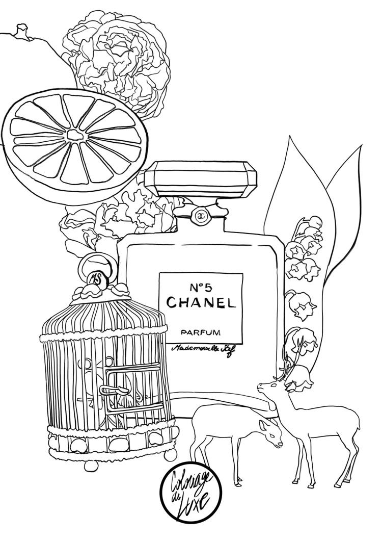dessin chanel a imprimer