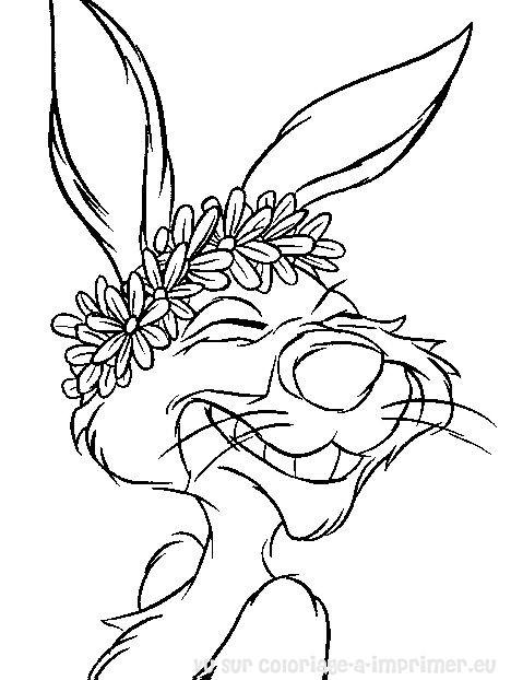 dessin � colorier de coco lapin
