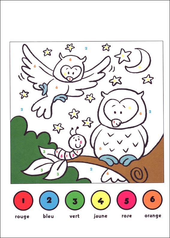 dessin à colorier codé imprimer gratuit