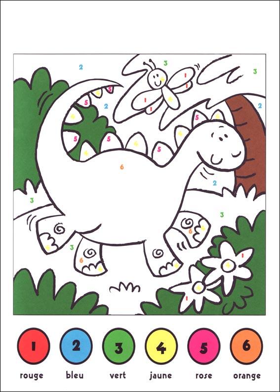 coloriage à dessiner codé 1 à 4