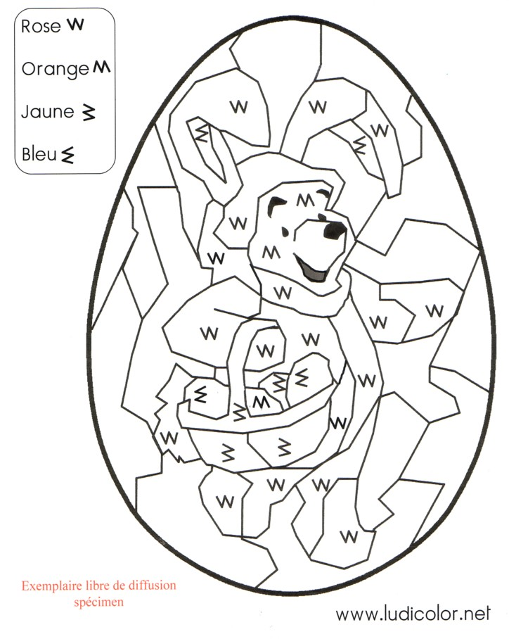 coloriage à dessiner codé ogre