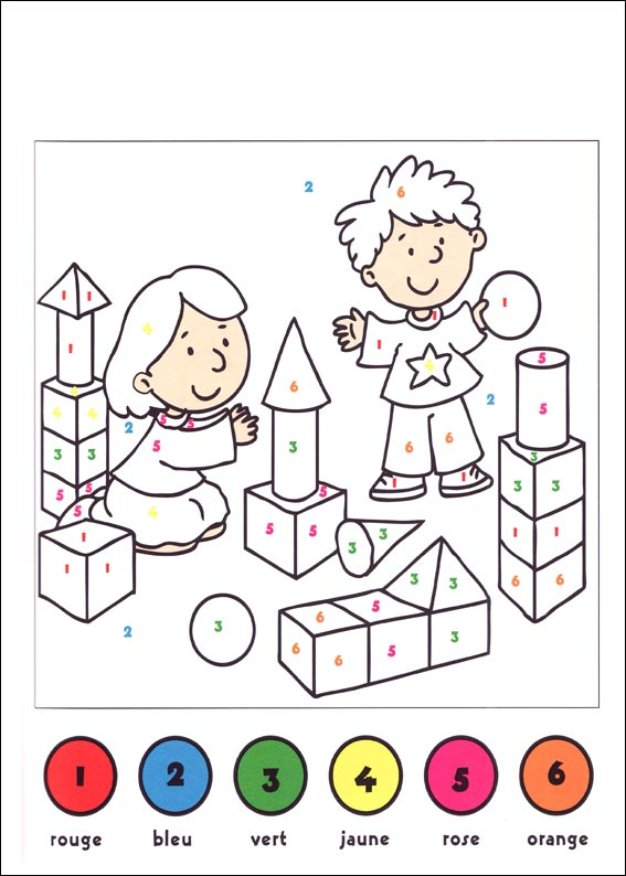 Coloriage cod ps maternelle - Coloriage a code ...