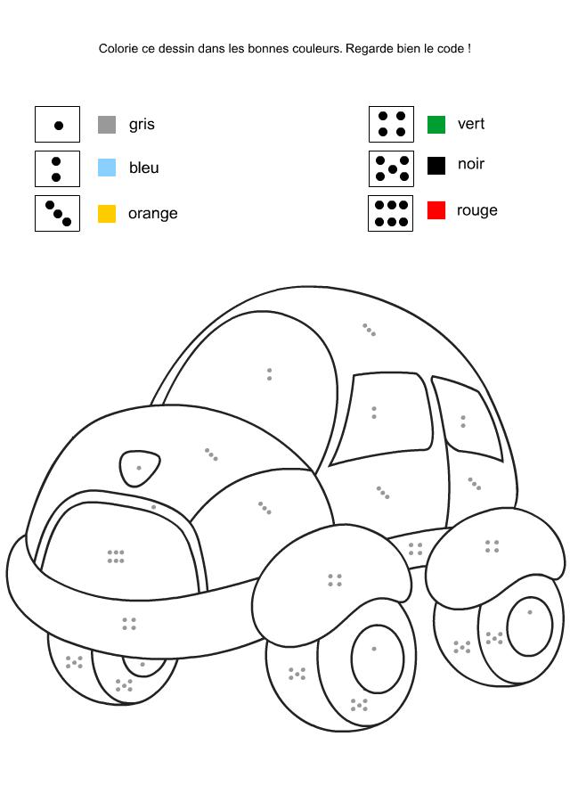 coloriage à dessiner codé elmer