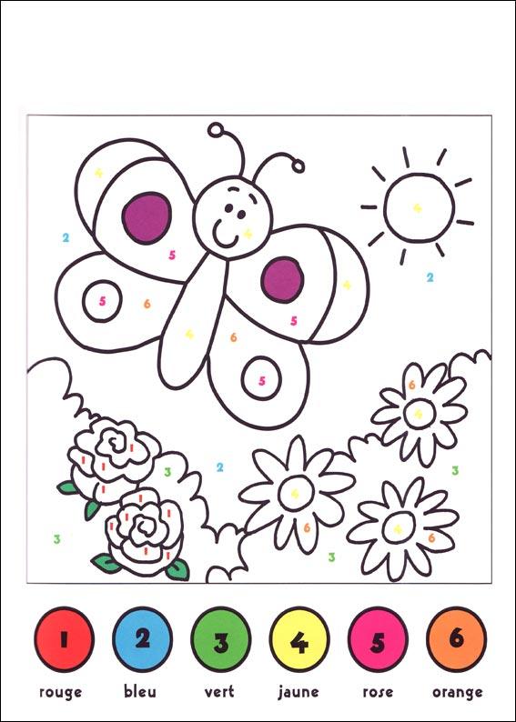 dessin à colorier codé a imprimer