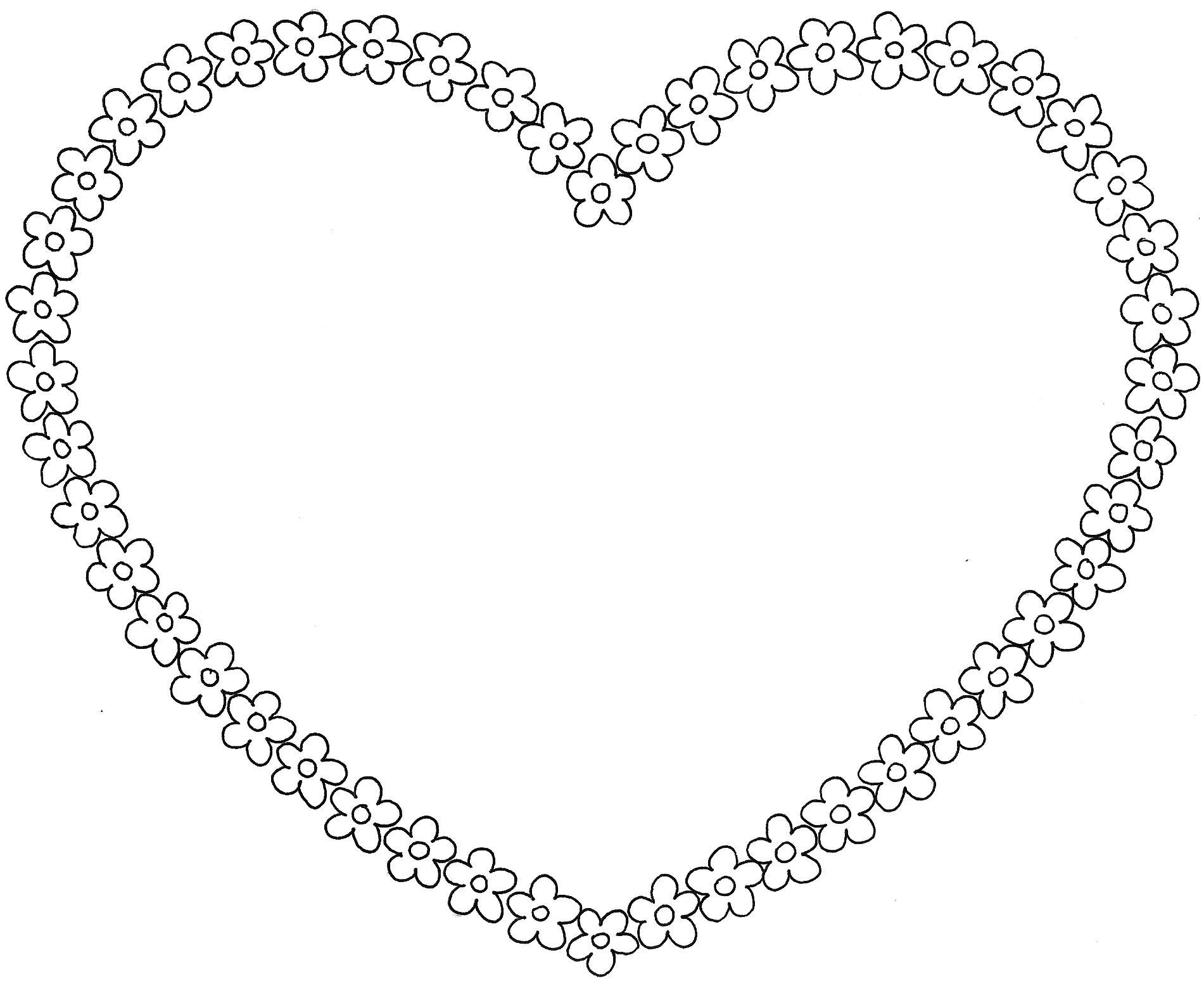 coloriage à dessiner coeur arc en ciel
