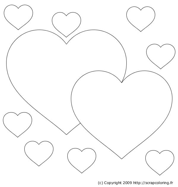 Coeur colorier imprimer - Coeur coloriage ...