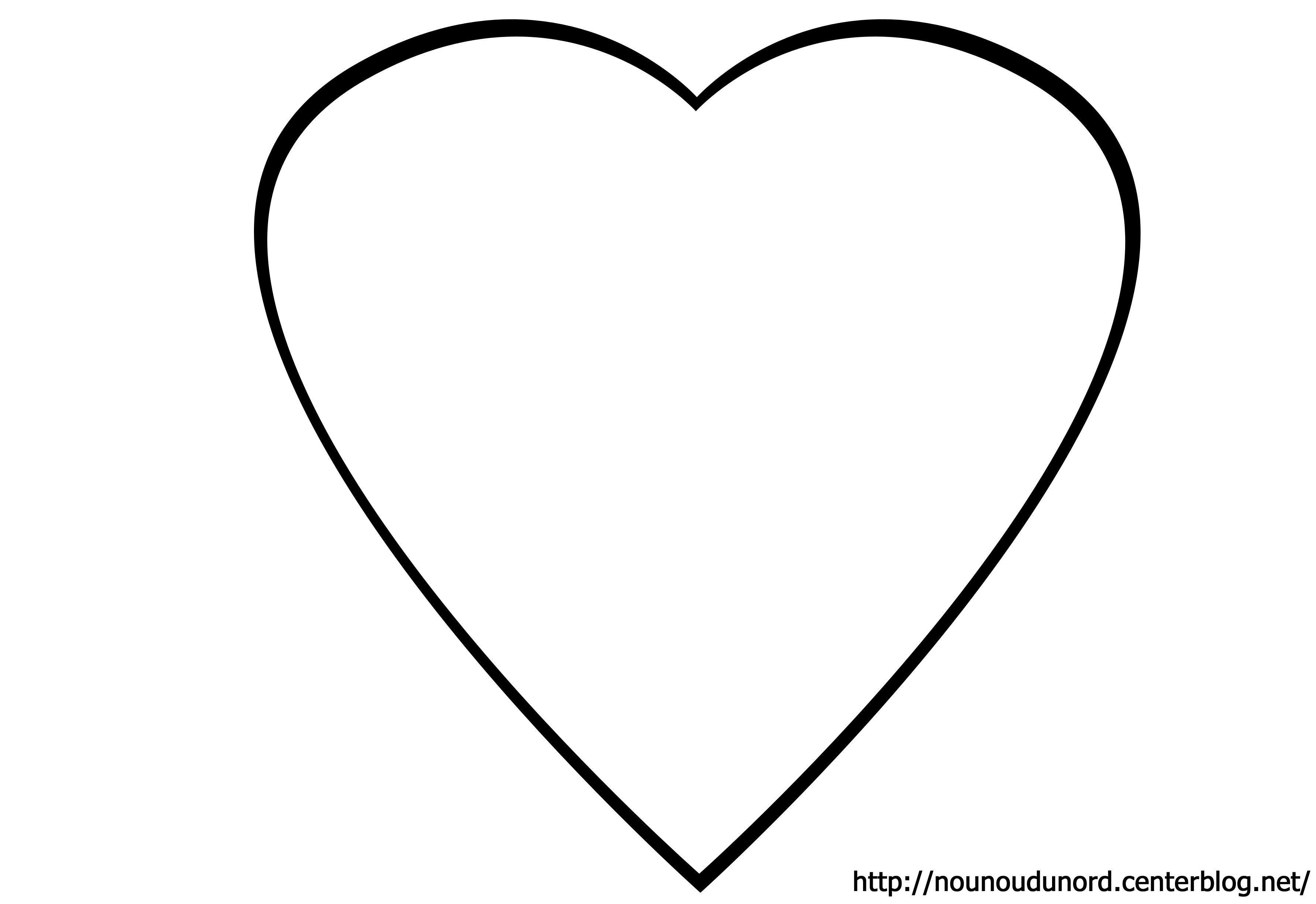 dessin à colorier coeur de noel