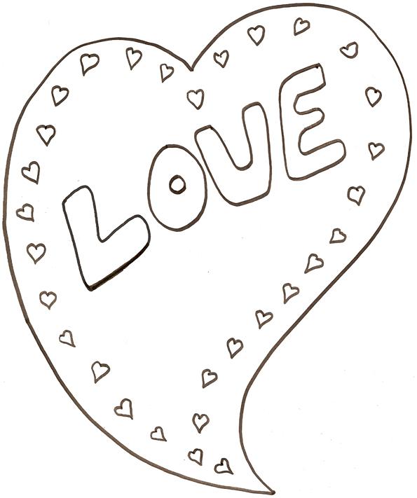 dessin à colorier imprimer coeur pour maman