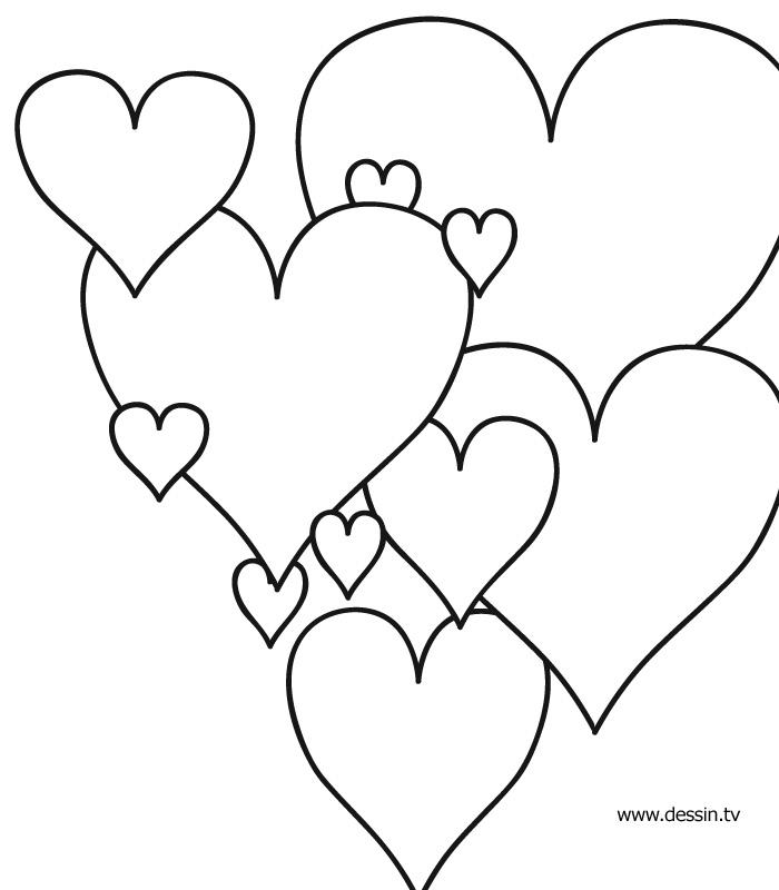 Dessin à Colorier Coeur Avec Fleurs