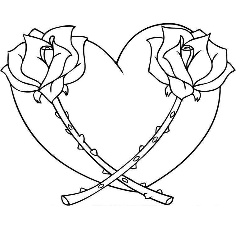 Image de coeur a imprimer image de - Coeur coloriage ...