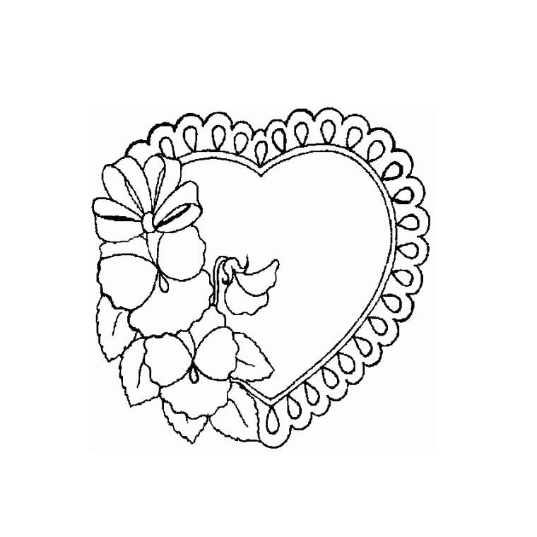 coloriage à dessiner coeur