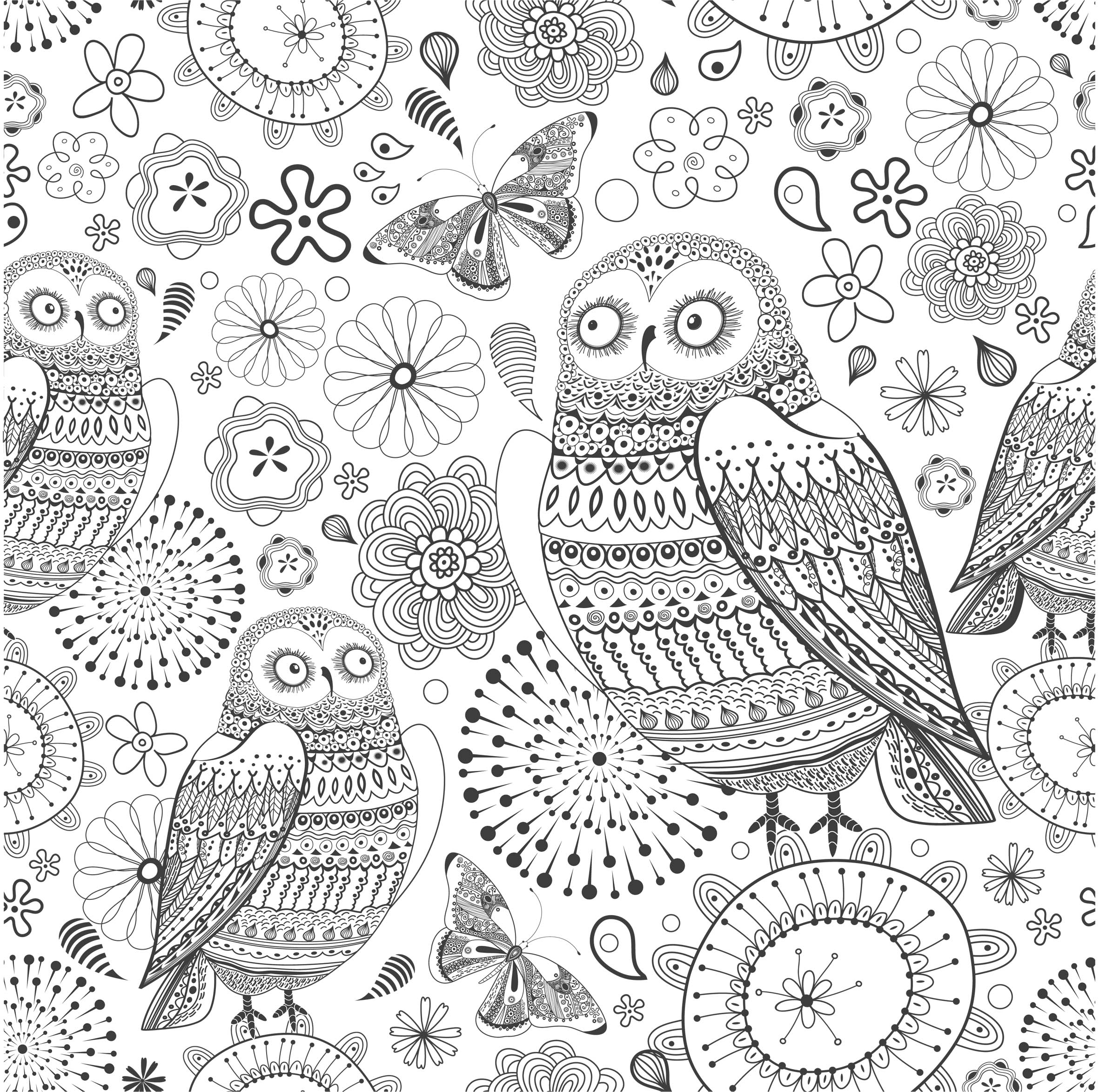 131 dessins de coloriage anti stress imprimer - Anti coloriage ...