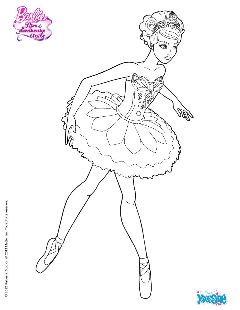 121 dessins de coloriage barbie imprimer - Dessin anime barbie princesse ...