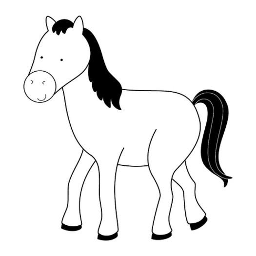 coloriage cheval magnifique
