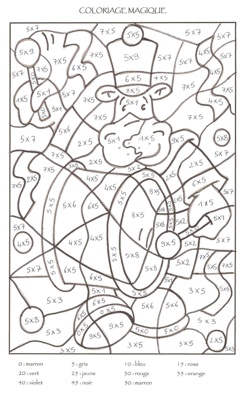 dessin à colorier magique lecture cp à imprimer