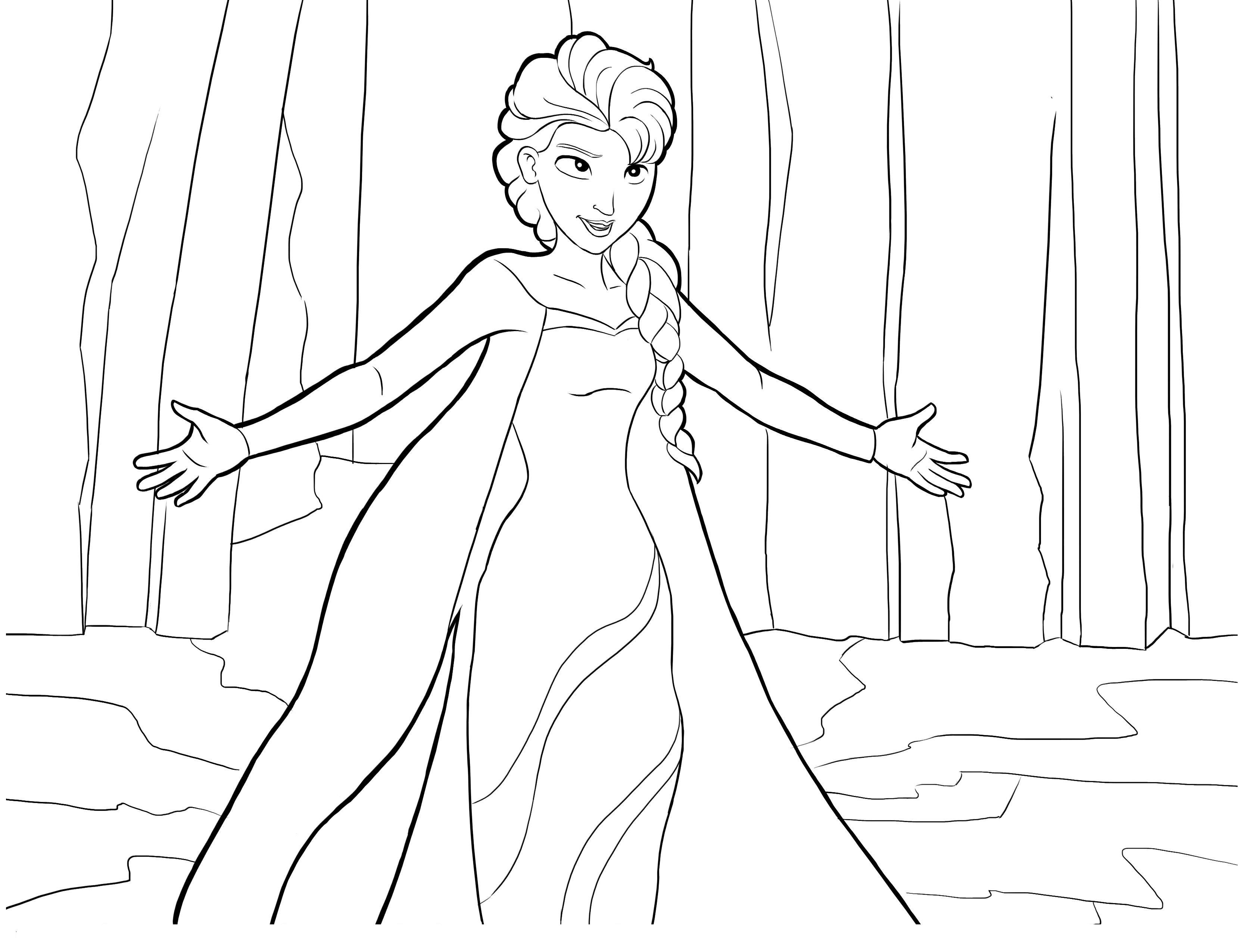 dessin reine des neiges 2