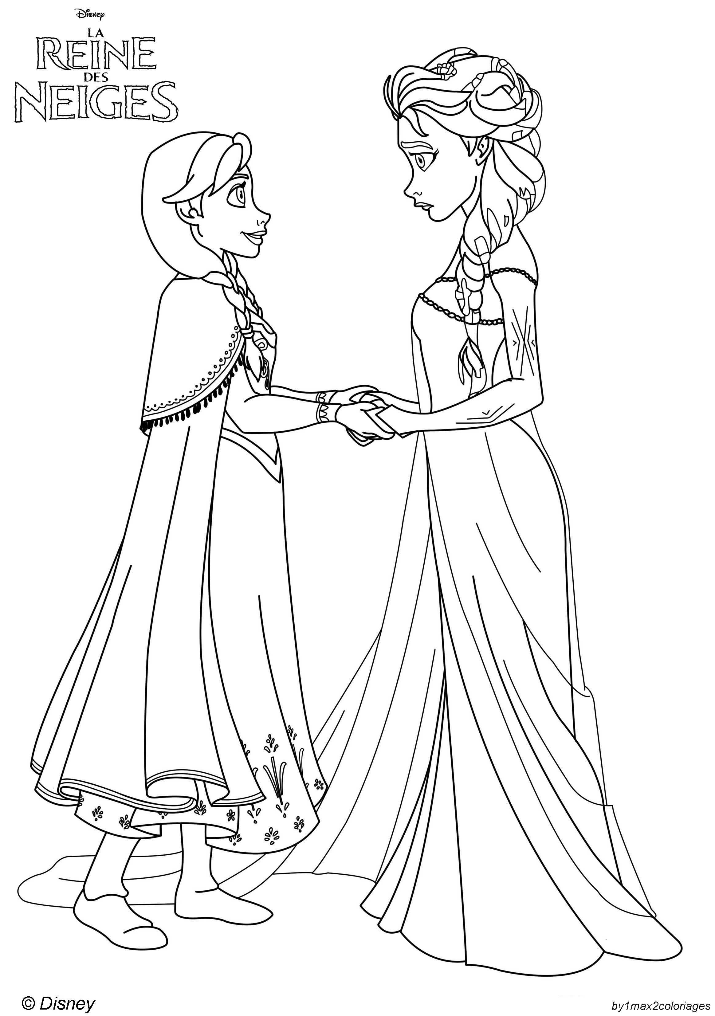les dessin à colorier de la reine des neiges