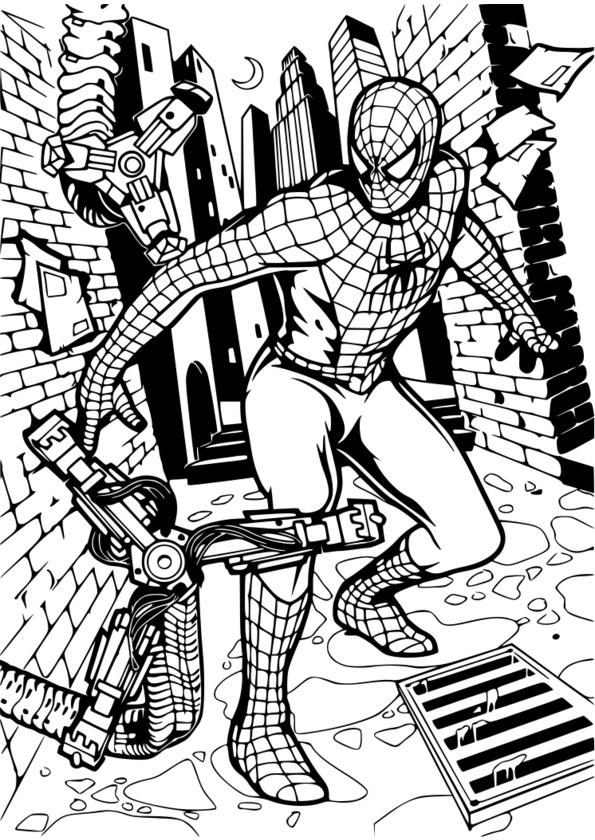 coloriage spiderman à imprimer gratuitement