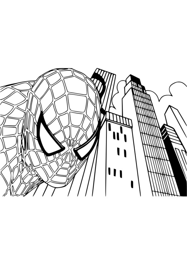 119 dessins de coloriage spiderman imprimer - Coloriage spiderman 1 ...