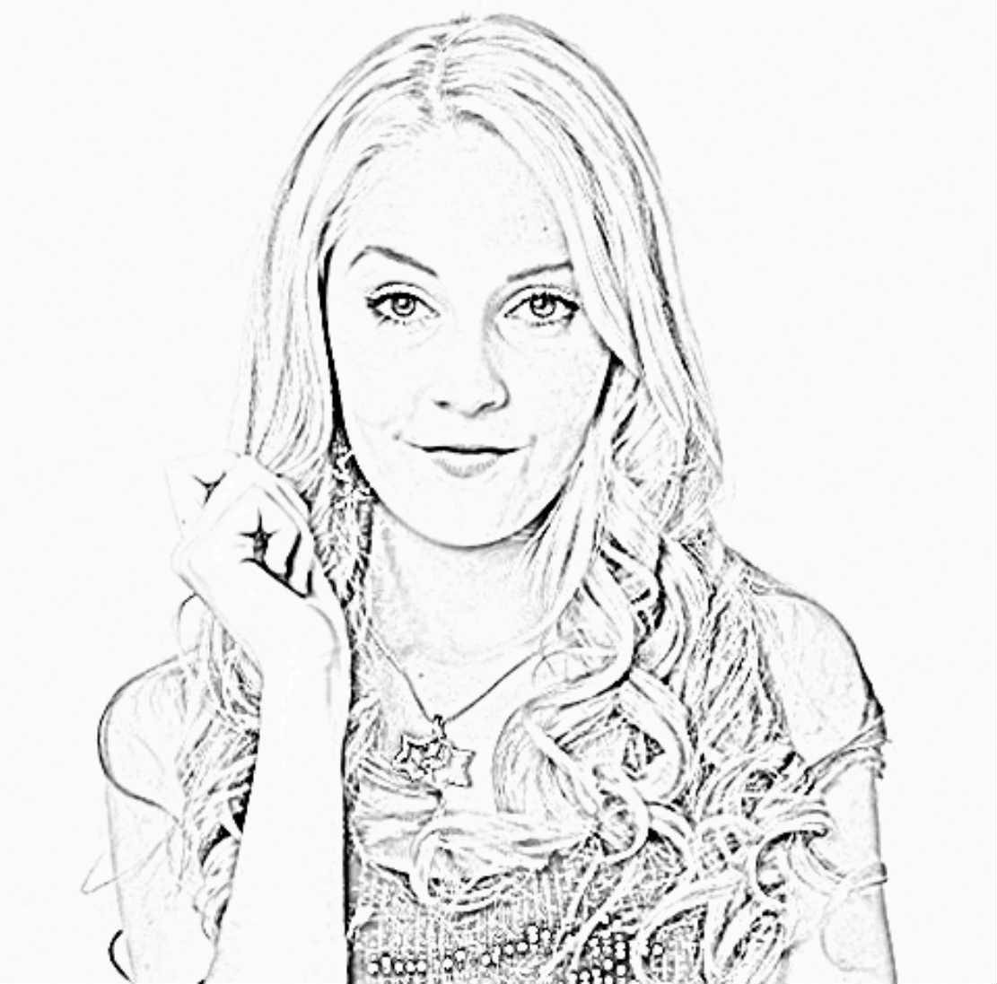 dessin violetta disney a imprimer - Coloriage Violetta