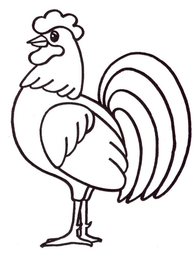 Dessin un coq - Des dessins a imprimer ...