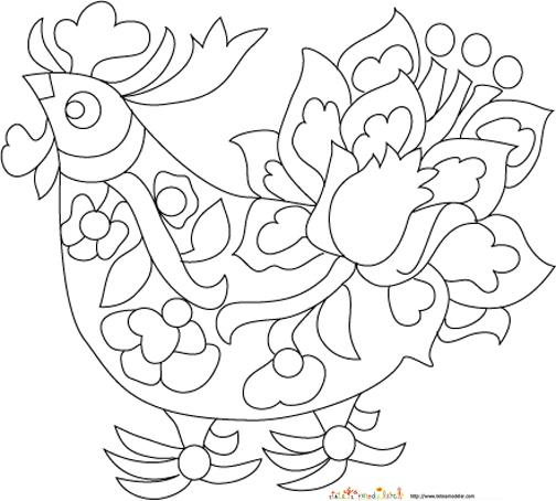 Coloriage dessiner du coq portugais - Coq a dessiner ...