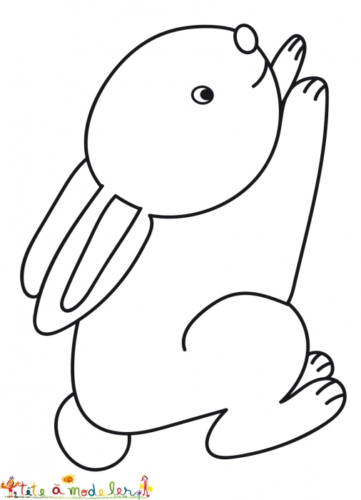 32 dessins de coloriage courir imprimer - Dessin de lapin facile ...