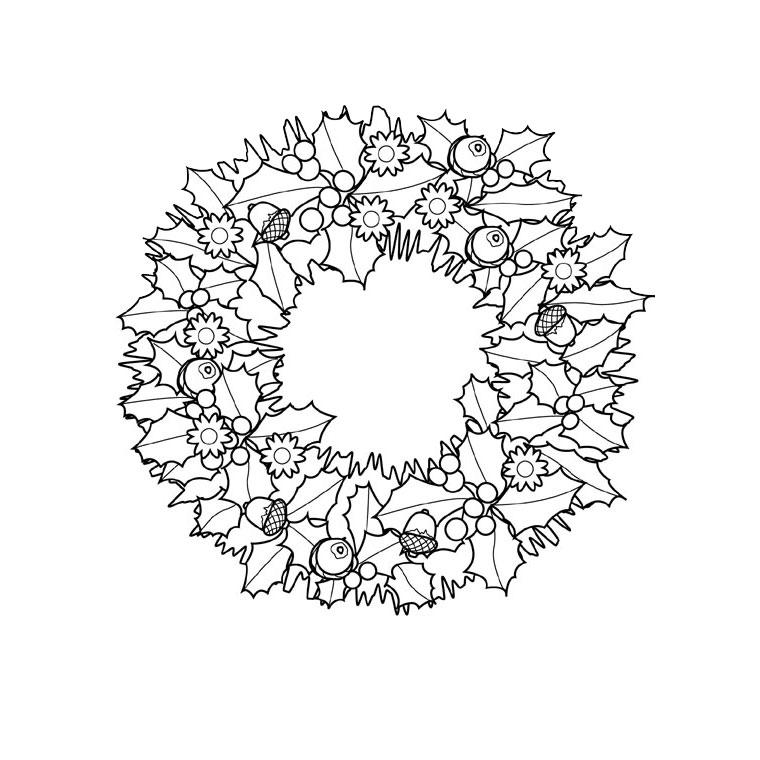 coloriage à dessiner couronne galette rois