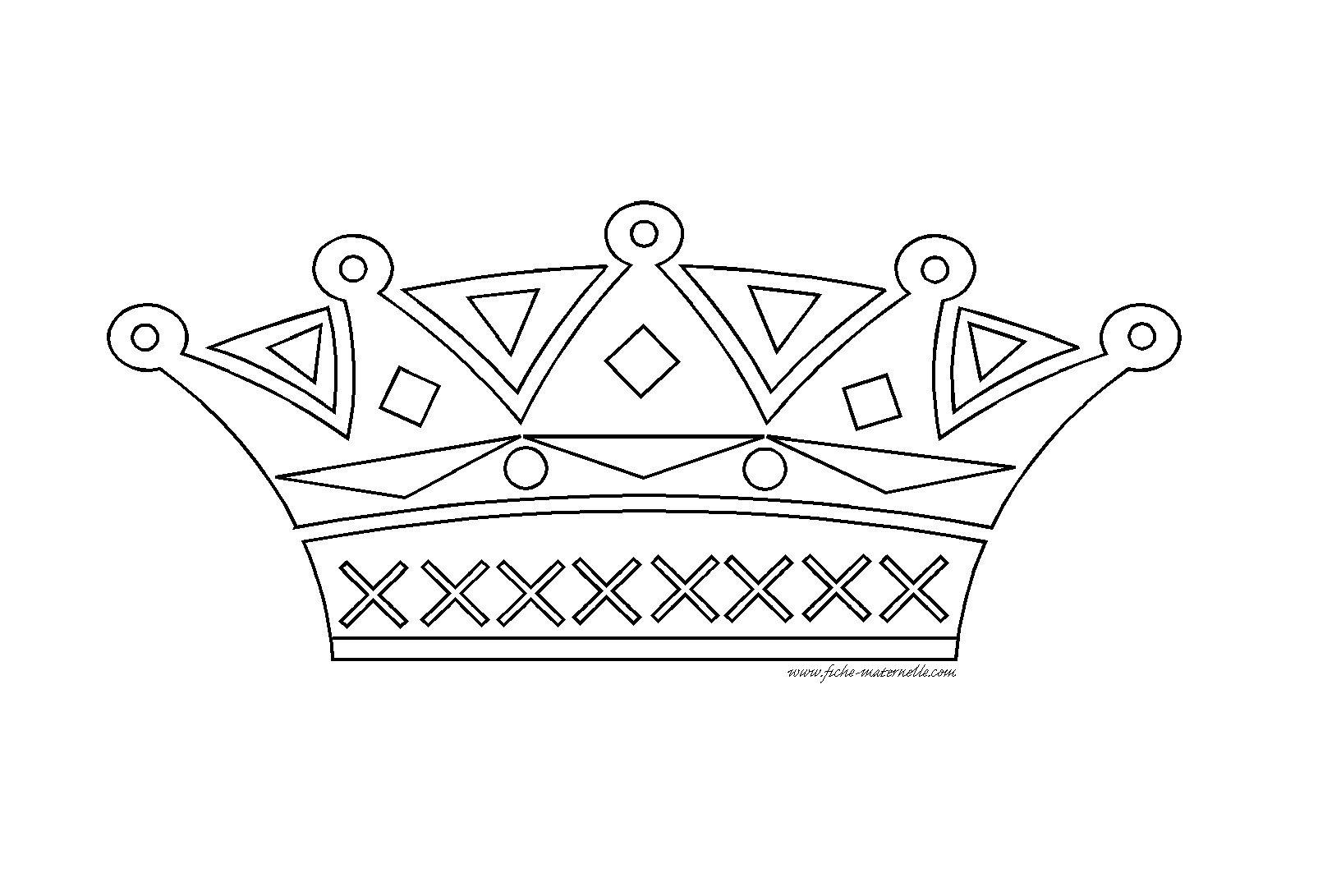 Dessin chien couronne - Coloriage couronne ...