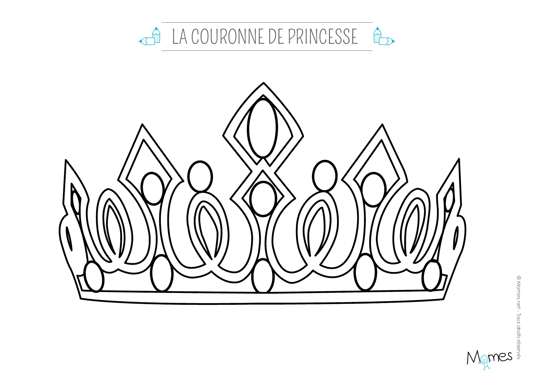 Coloriage Couronne Simple