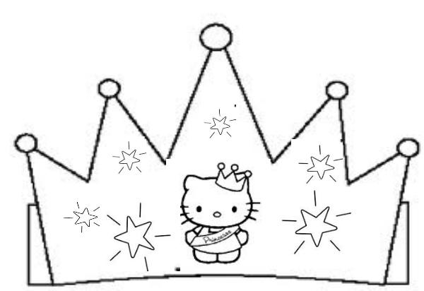 dessin à colorier gratuit à imprimer couronne des rois