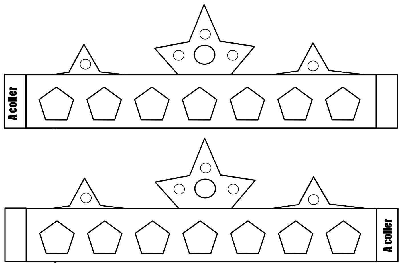 dessin couronne des rois à imprimer