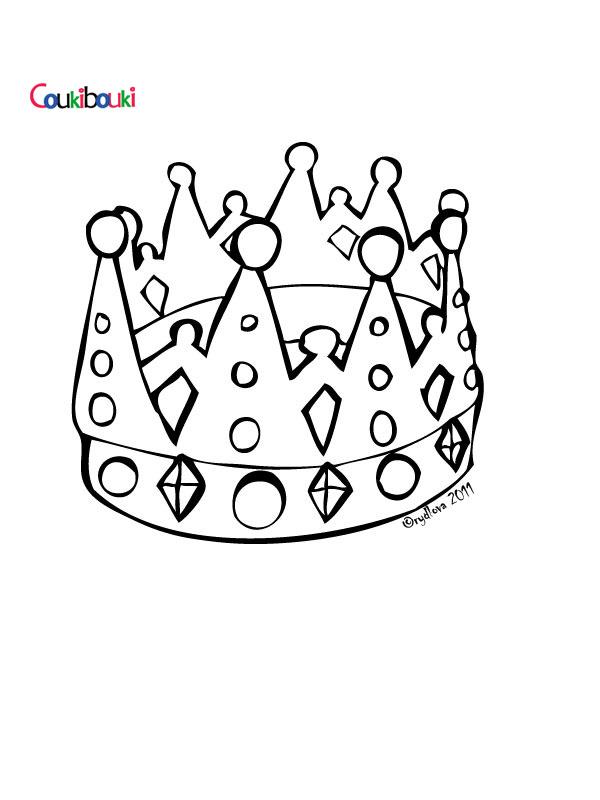 Dessin couronne imprimer - Coloriage couronne ...