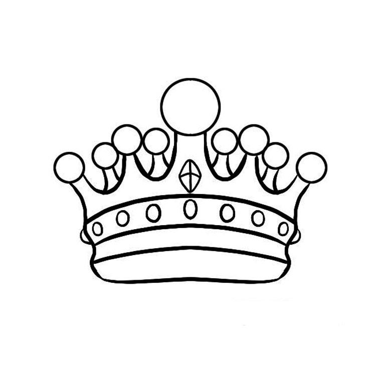 Coloriage couronne maternelle - Dessin couronne princesse ...