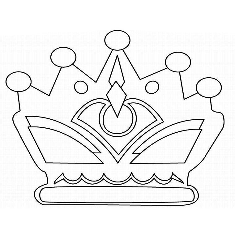coloriage à dessiner codé couronne des rois