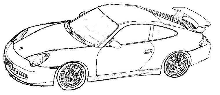 coloriage course cars