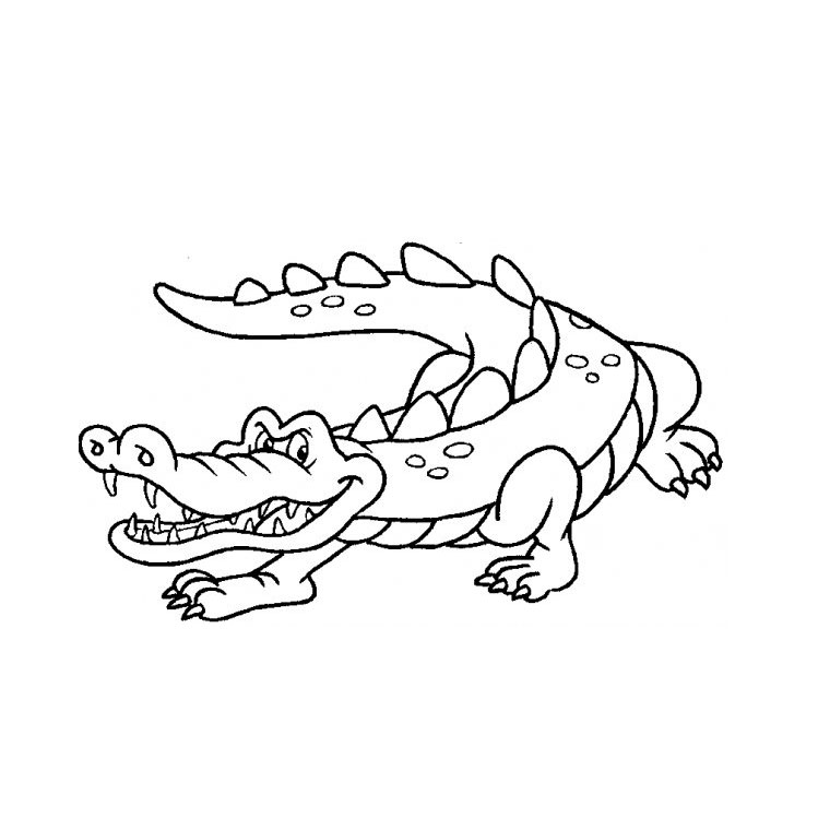 18 dessins de coloriage crocodile rigolo imprimer - Dessin anime de crocodile ...