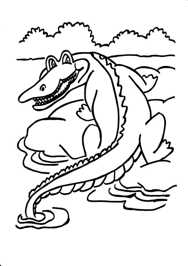 Coloriage Crocodile La Bouche Ouverte Imprimer L L ...