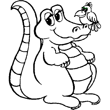 Coloriage Crocodile Mechant.Dessin A Colorier Coda C Crocodile