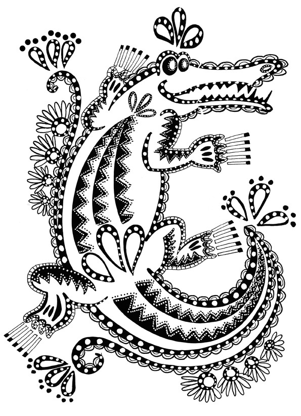 Coloriage crocodile du nil - Dessiner un crocodile ...
