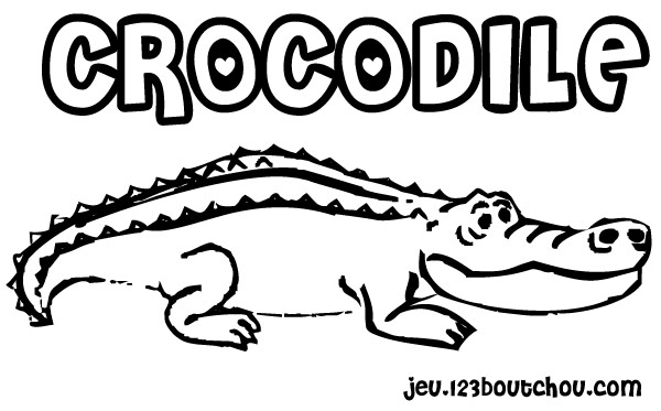 Coloriage dessiner un crocodile - Dessiner un crocodile ...